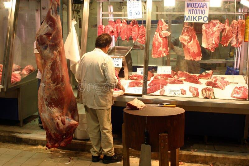 Mercado de carne imágenes de archivo libres de regalías