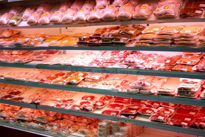 Mercado de carne imagens de stock