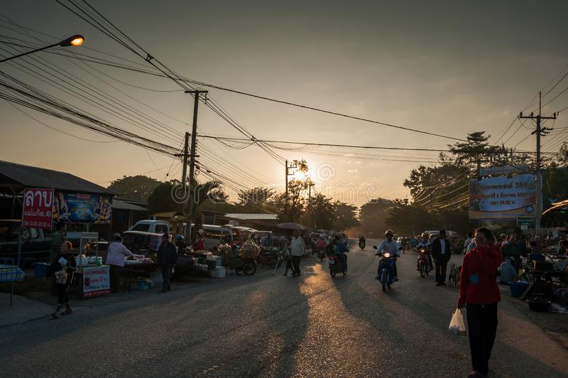 Mercado de CHIANG MAI por la mañana fotos de archivo