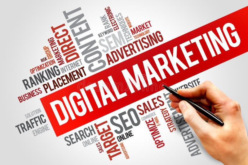 Mercado de Digitas imagens de stock