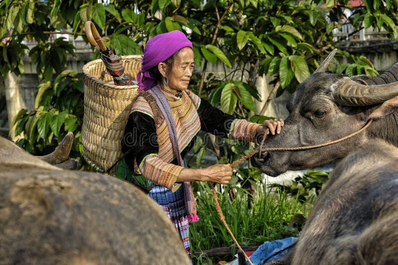 Mercado de domingo en Bac Ha, Vietnam imágenes de archivo libres de regalías