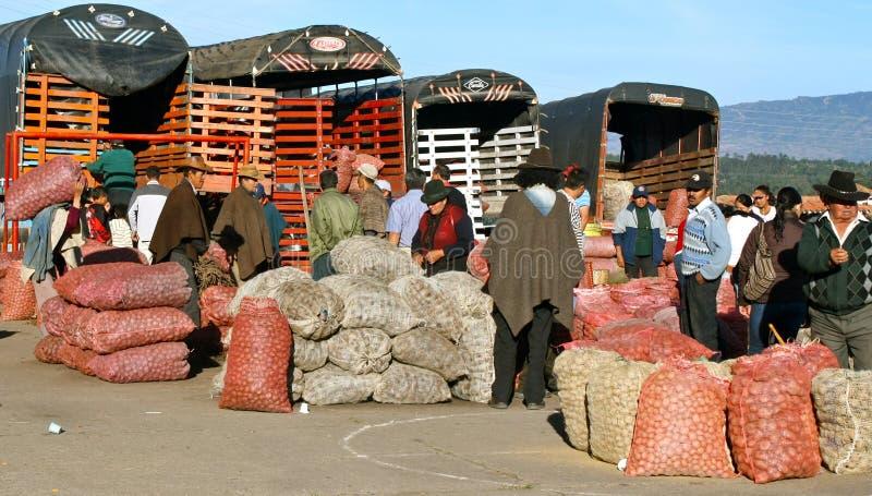 Mercado de Farmer´s, Casa de campo de Leyva, Colômbia foto de stock royalty free