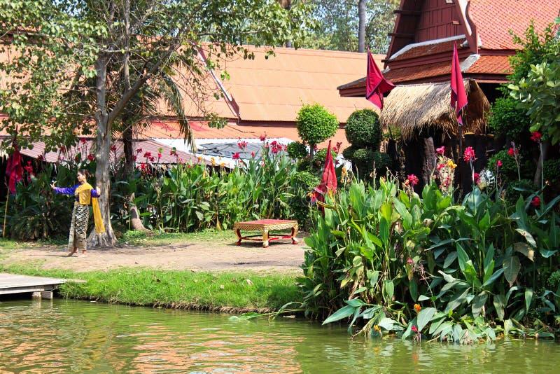 Mercado de flutuação de Ayutthaya imagens de stock royalty free