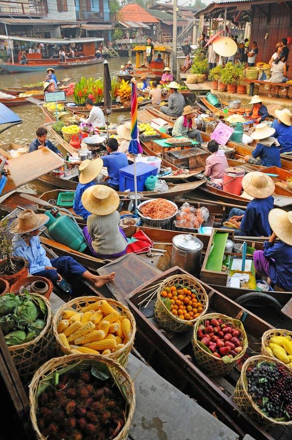 Mercado de flutuação de Amphawa, Amphawa, Tailândia fotos de stock royalty free
