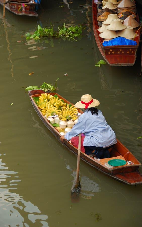 Mercado de flutuação Tailândia fotografia de stock royalty free