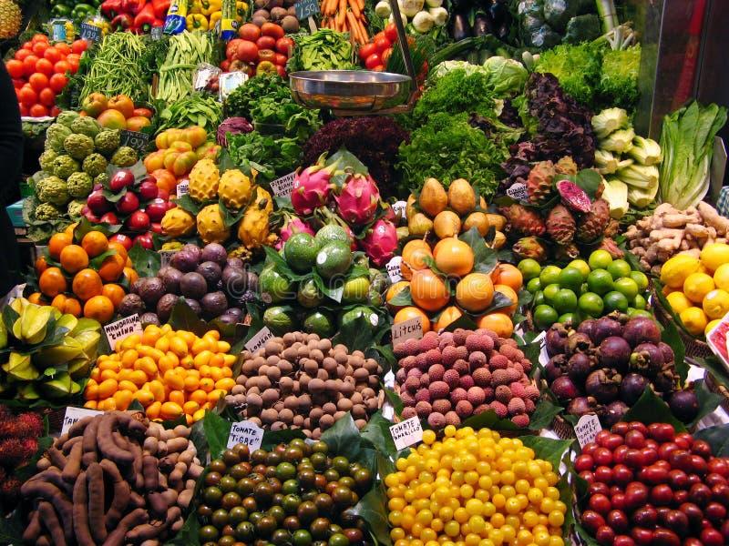Mercado de frutas fotos de stock