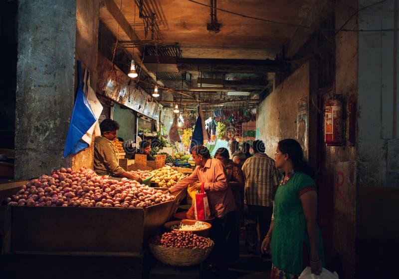 Mercado de fruto indiano foto de stock