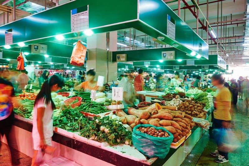 Mercado de fruto vegetal fotografia de stock