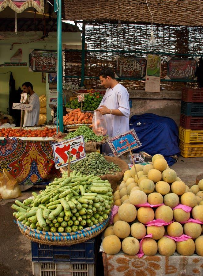 Mercado de Hurghada Egipto fotografía de archivo
