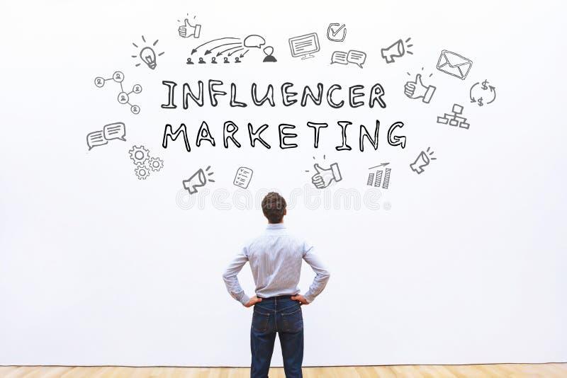Mercado de Influencer foto de stock