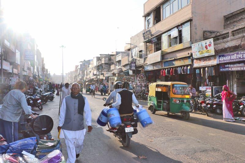 Mercado de Kote Gate, Bikaner imágenes de archivo libres de regalías