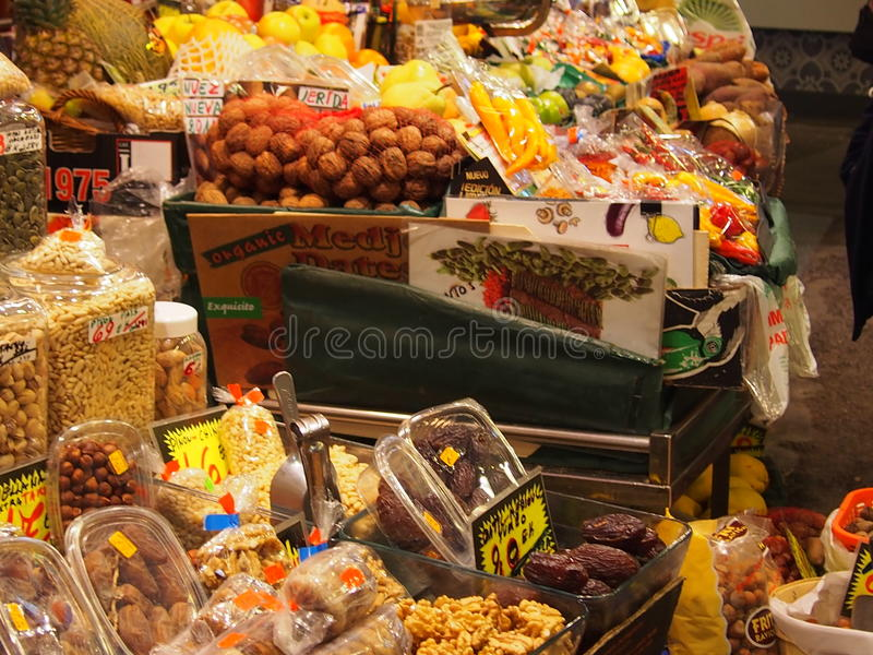 Mercado de la Boqueria lizenzfreie stockbilder