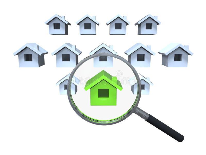 mercado de la casa stock de ilustración