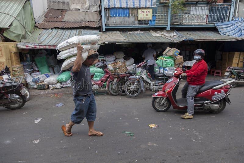 Mercado de la ciudad de China imágenes de archivo libres de regalías