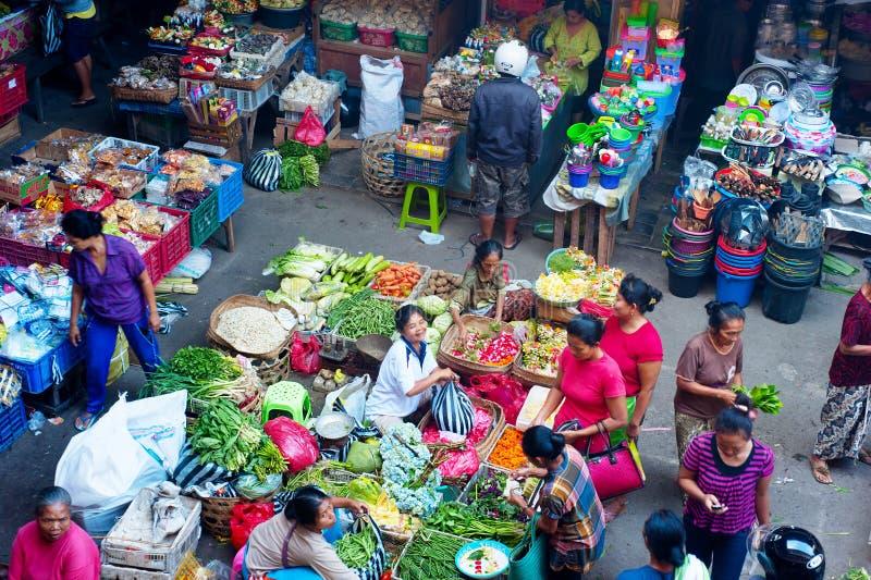 Mercado de la comida del Balinese foto de archivo libre de regalías