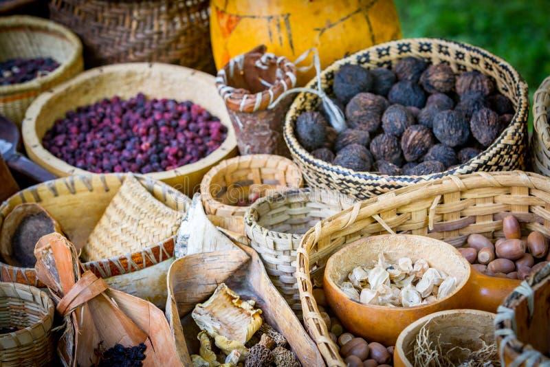 Mercado de la comida del nativo americano imagen de archivo