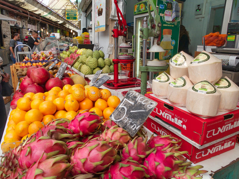 Mercado de la comida en Jerusalén Israel fotografía de archivo