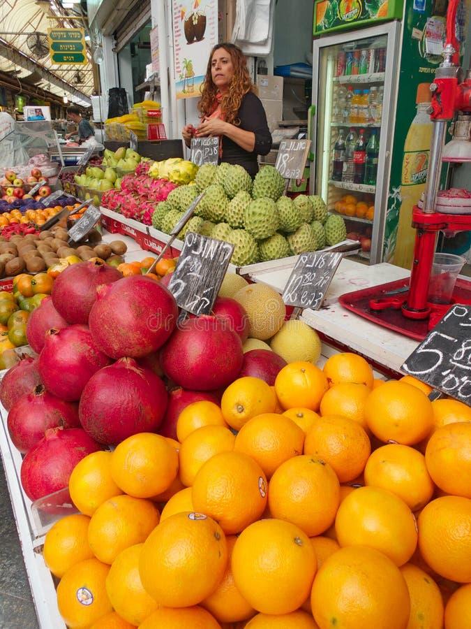 Mercado de la comida en Jerusalén Israel fotos de archivo