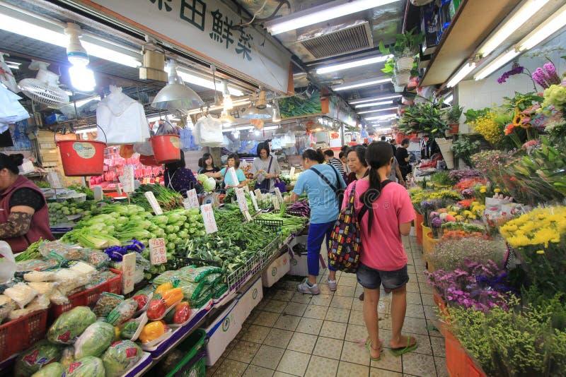 Mercado de la comida fresca en Hong-Kong imagenes de archivo