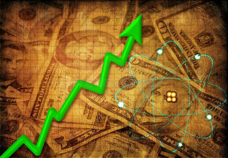 Mercado de la energía nuclear ilustración del vector