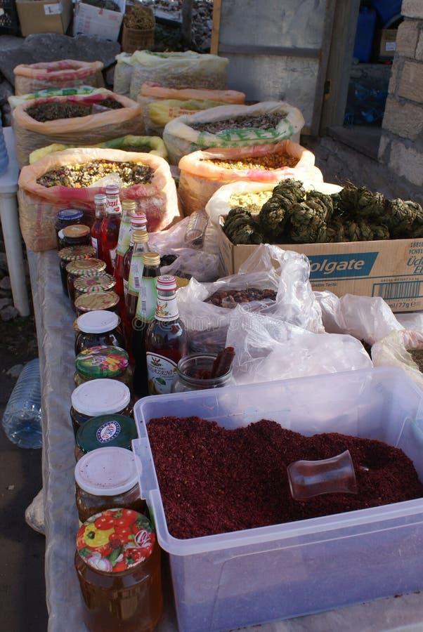 Mercado de la especia en Azerbaijan imagenes de archivo