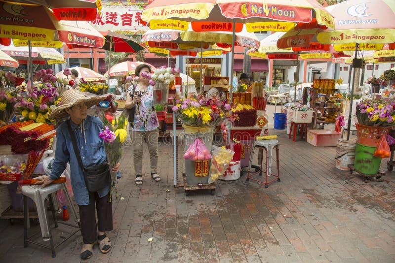 Mercado de la flor en Singapur fotos de archivo libres de regalías