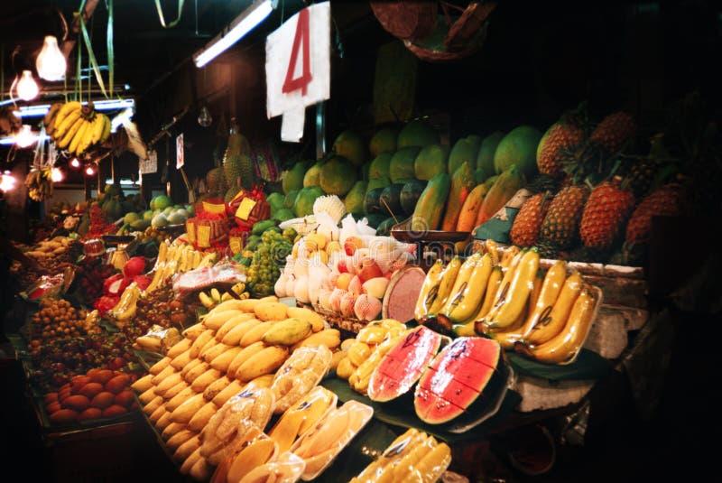 Mercado de la fruta de Tailandia fotos de archivo