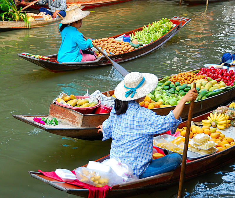 Mercado de la fruta famosa
