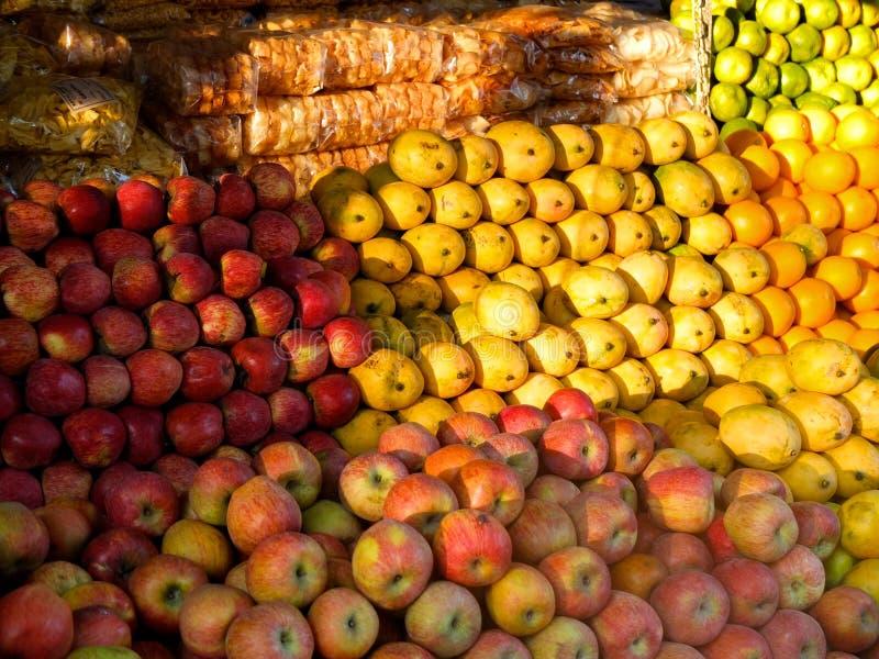 Mercado de la fruta la India imagen de archivo libre de regalías