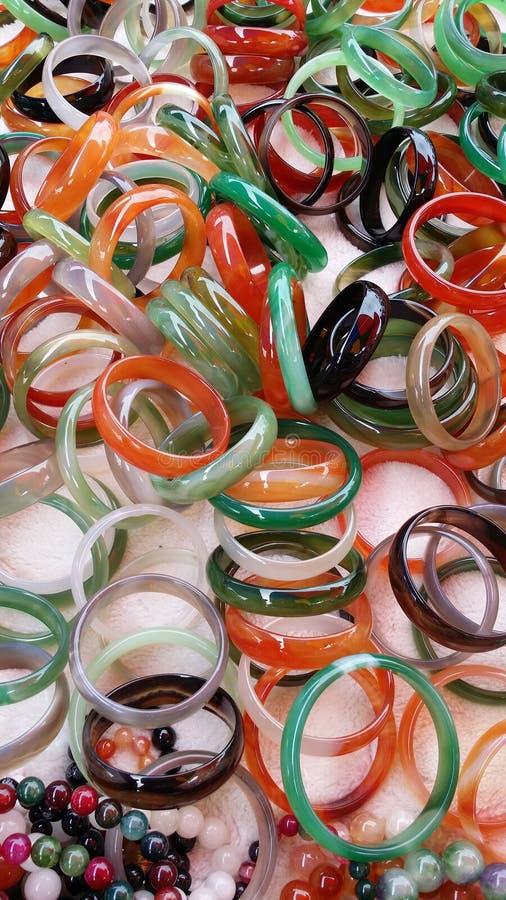 Mercado de la mañana del jade del mitón colorido foto de archivo libre de regalías