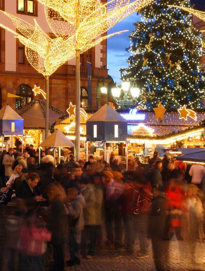 Mercado de la Navidad imágenes de archivo libres de regalías