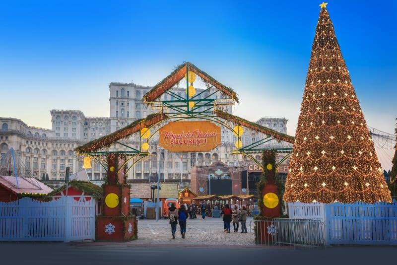 Mercado de la Navidad, Bucarest foto de archivo