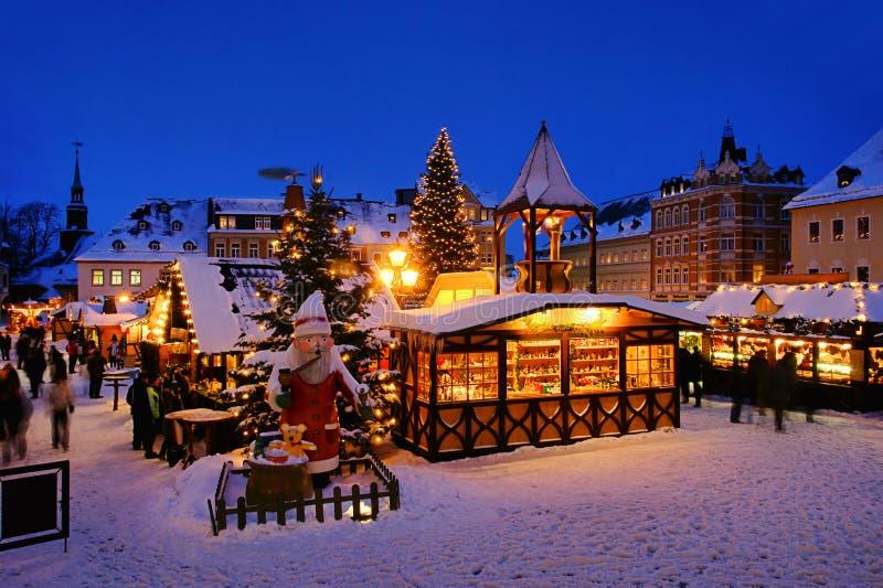 Mercado de la Navidad de Annaberg-Buchholz fotografía de archivo libre de regalías