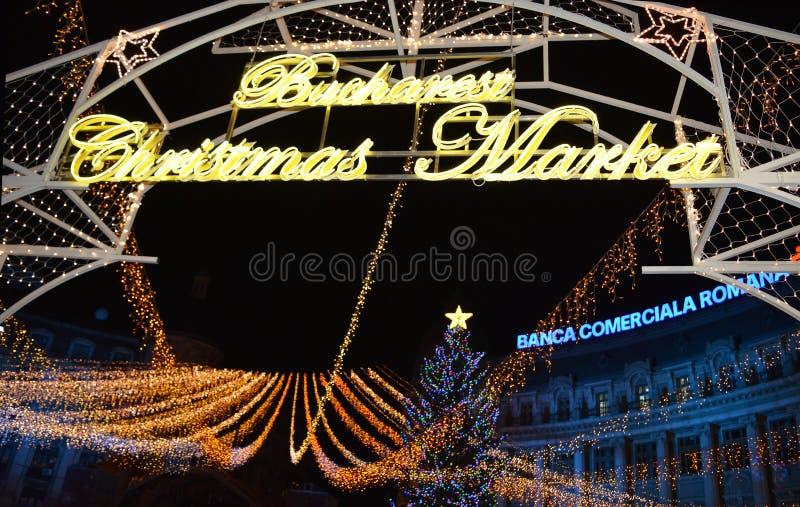 Mercado de la Navidad de Bucarest imágenes de archivo libres de regalías