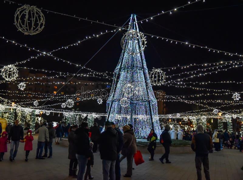 Mercado 2016 de la Navidad de Bucarest fotografía de archivo libre de regalías