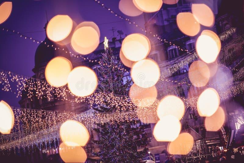 Mercado de la Navidad de Bucarest, diciembre de 2015 fotos de archivo