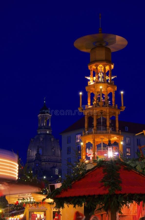 Mercado de la Navidad de Dresden imagenes de archivo