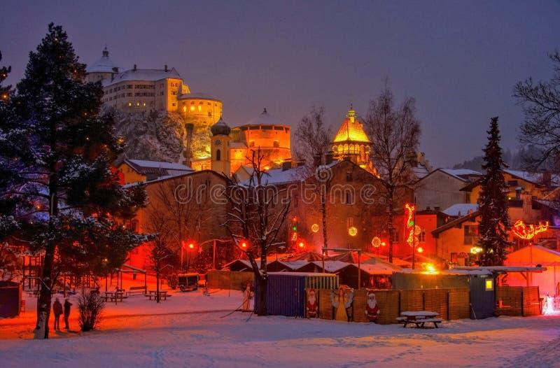 Mercado de la Navidad de Kufstein imagen de archivo