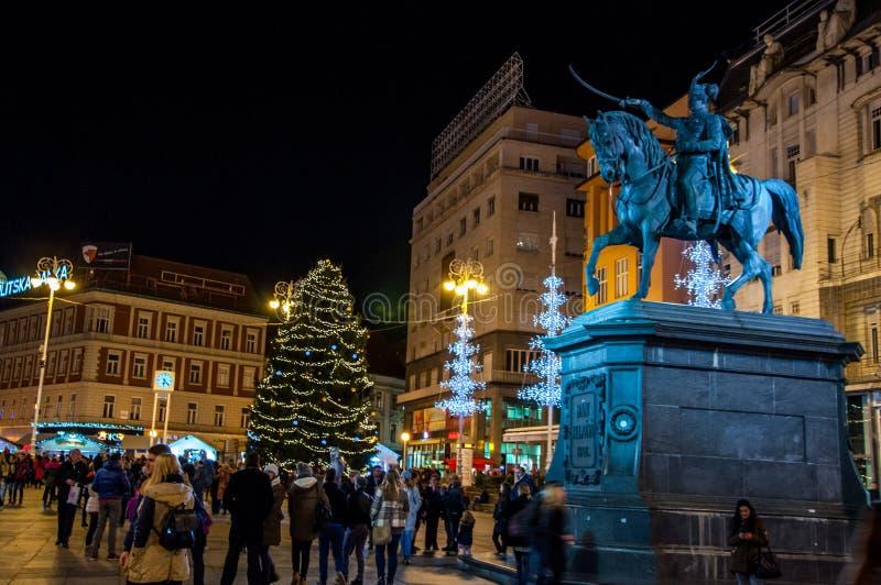 Mercado de la Navidad de Zagreb imagen de archivo libre de regalías