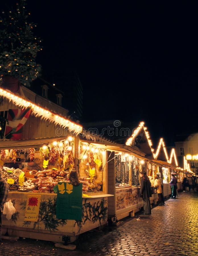 Mercado de la Navidad en Metz fotografía de archivo libre de regalías