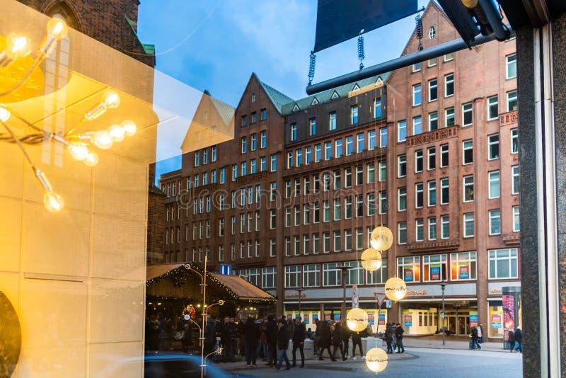 Mercado de la Navidad de Hamburgo imágenes de archivo libres de regalías