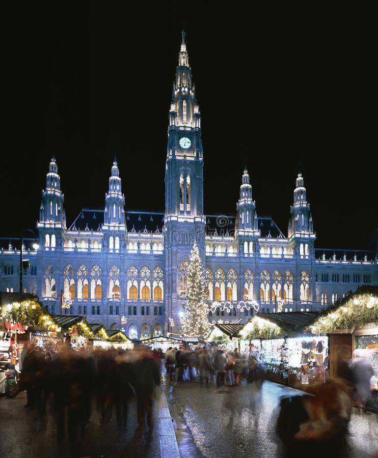 Mercado de la Navidad, Viena, Austria foto de archivo