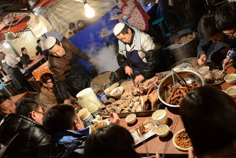 Mercado de la noche de Lanzhou imagen de archivo libre de regalías