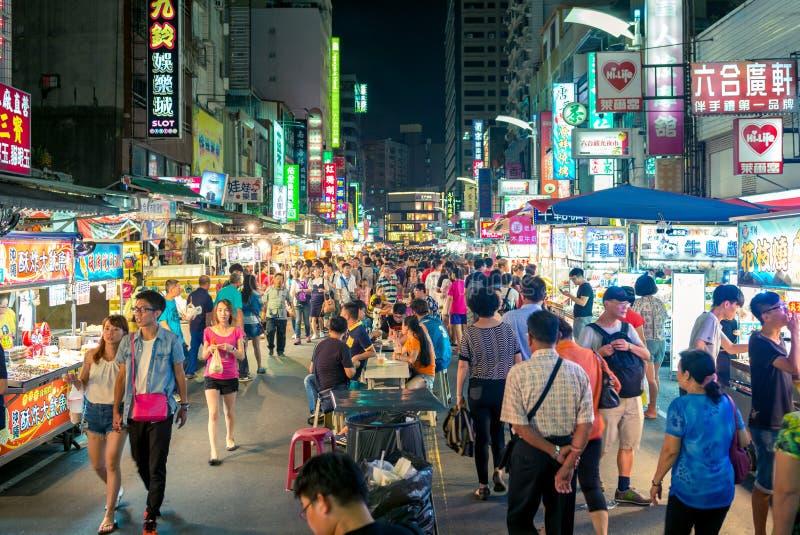 Mercado de la noche de Liuhe en Gaoxiong imagen de archivo libre de regalías