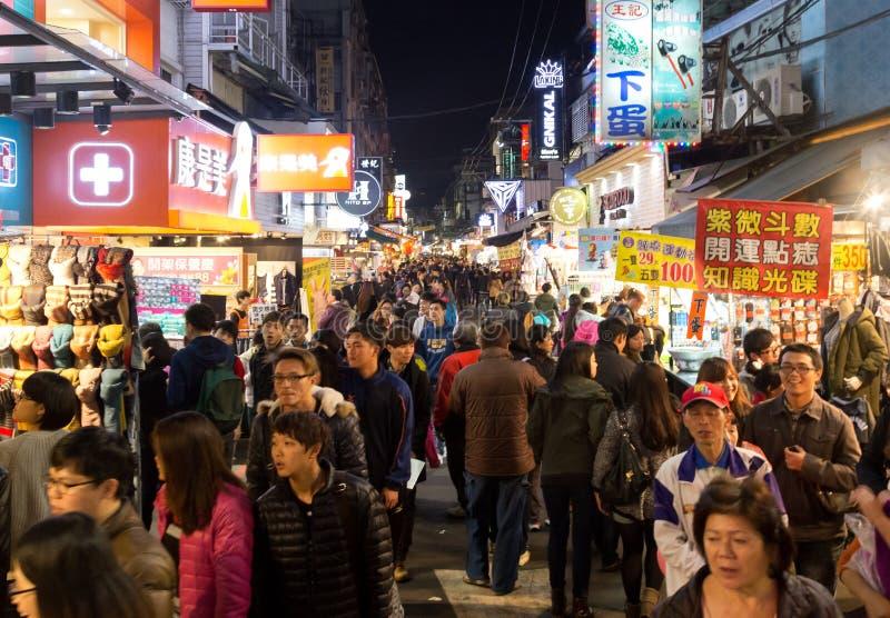 Mercado de la noche de Shilin en Taipei, Taiwán imagenes de archivo