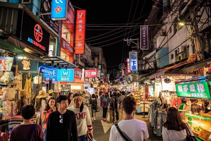 Mercado de la noche de Shilin foto de archivo