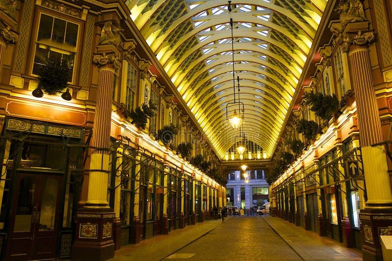 Mercado de Leadenhall em Londres, Reino Unido imagens de stock royalty free