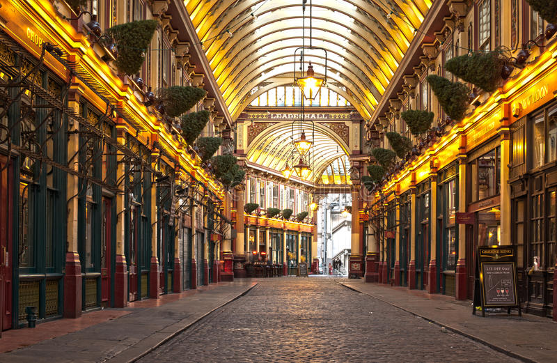 Mercado de Londres Leadenhall foto de stock royalty free