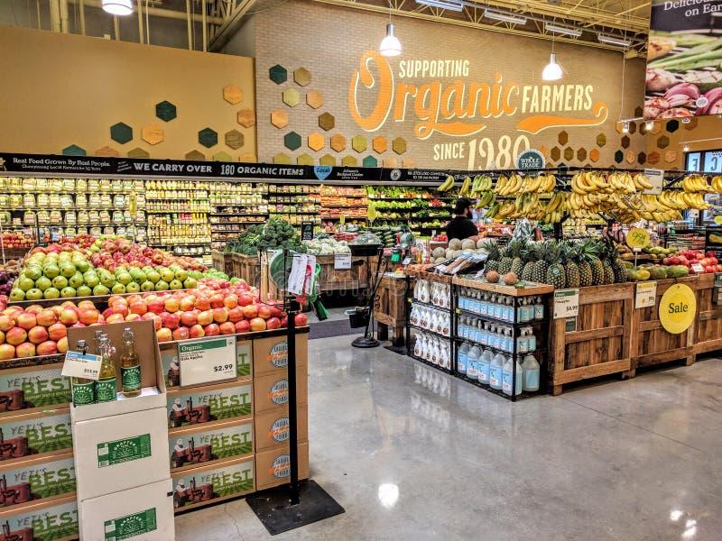 Mercado de los alimentos integrales foto de archivo