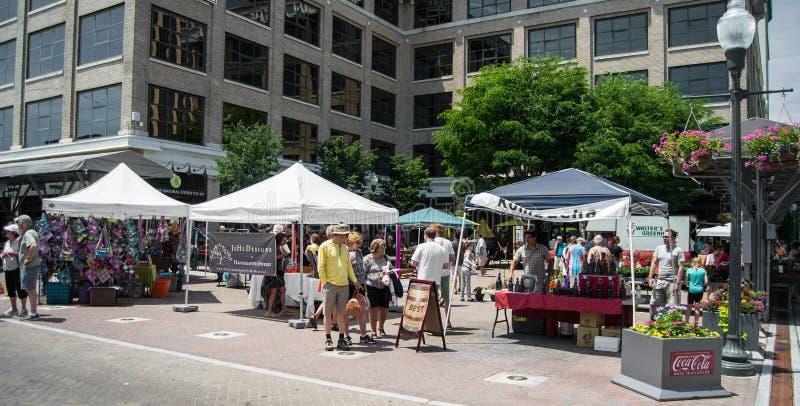 Mercado de los granjeros de la ciudad de Roanoke imagen de archivo libre de regalías